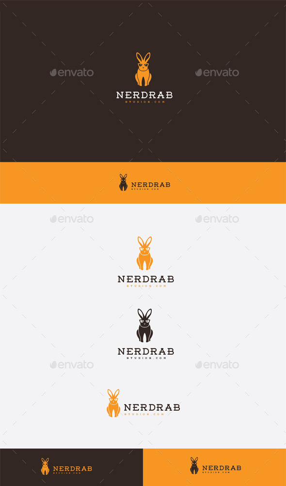 GraphicRiver Nerd Rabbit Logo 9272550