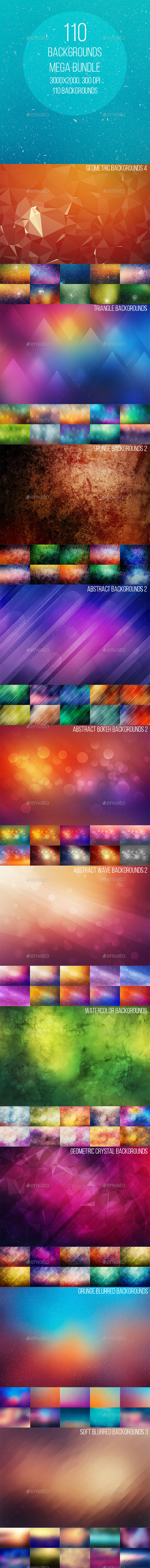 GraphicRiver 110 Backgrounds Mega Bundle 9272576