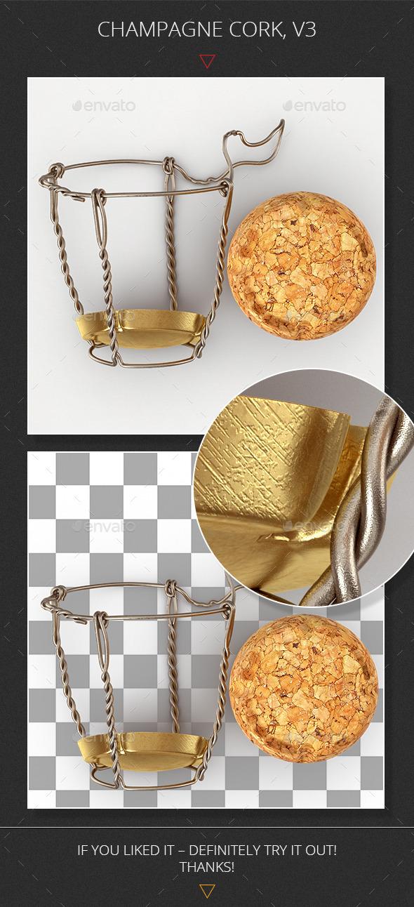GraphicRiver Champagne Cork v3 9272651