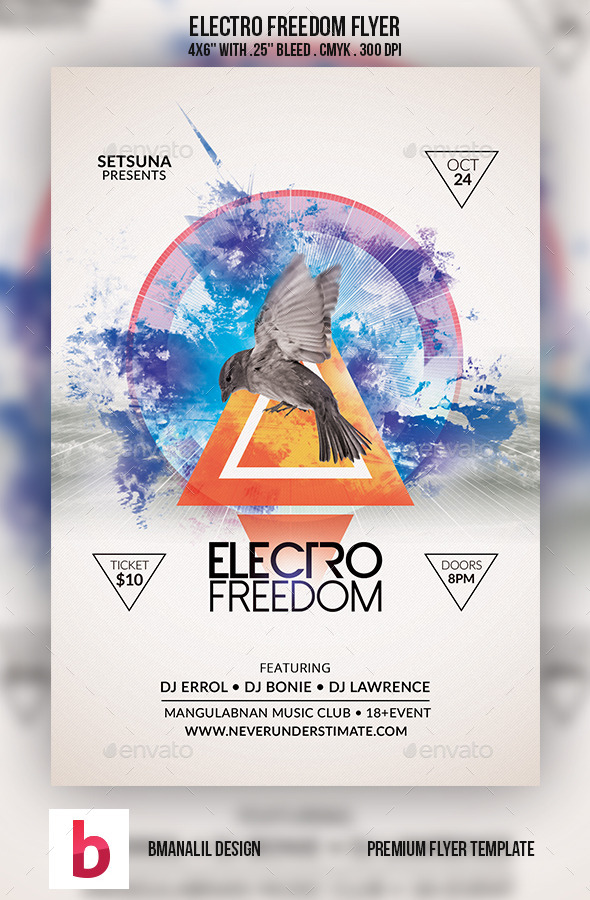 GraphicRiver Electro Freedom Flyer 9224644