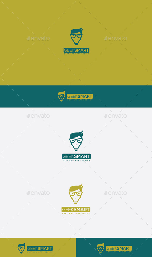 GraphicRiver Geek Smart Logo 9272697