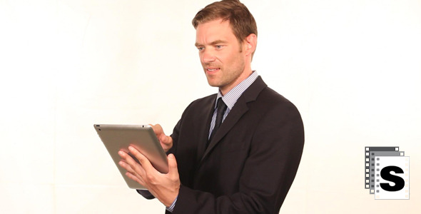 Businessman Using Tablet 2