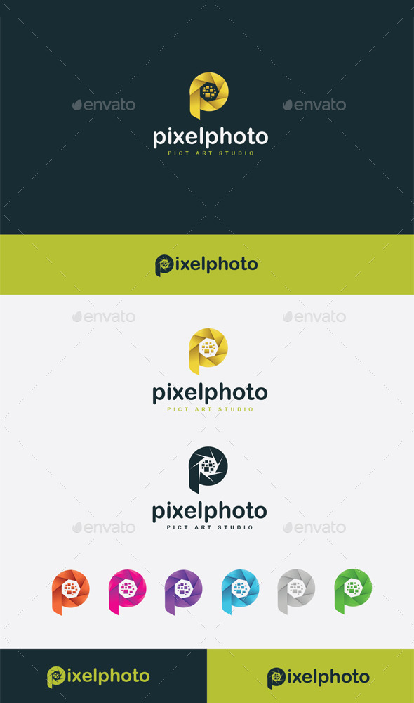 GraphicRiver Pixel Photo Logo 9272715