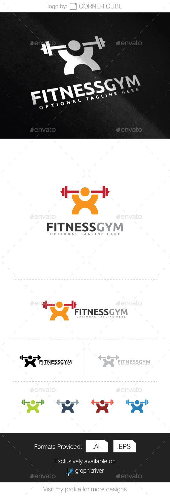 GraphicRiver Fitness Gym Logo 9272782