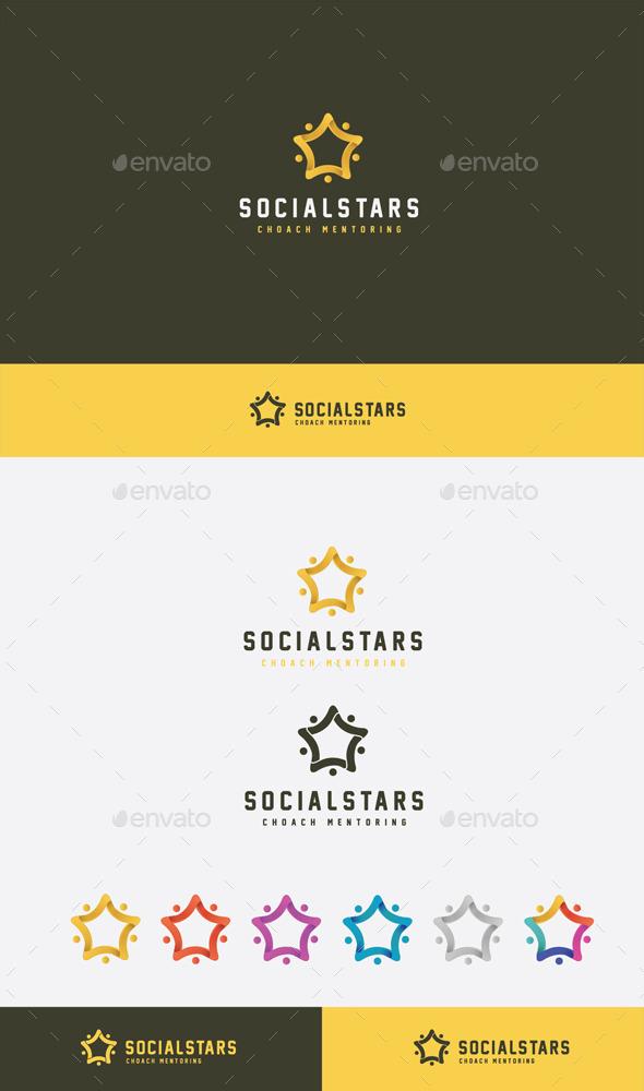 GraphicRiver Social Stars Logo 9272857