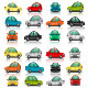Set of Cars from th Side and Front View - GraphicRiver Item for Sale