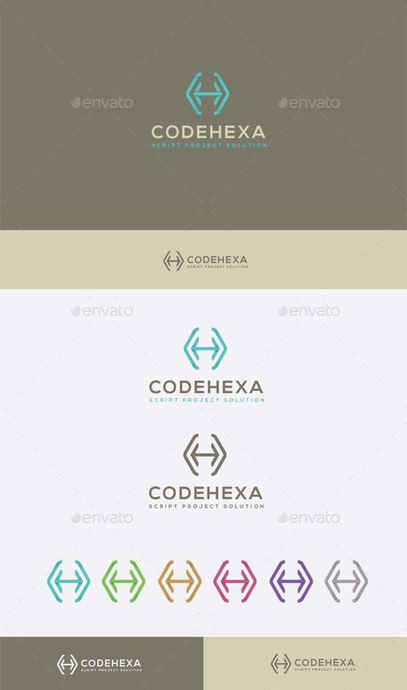 GraphicRiver Code Hexa Logo 9272862