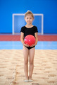 Little gymnast girl with red ball - PhotoDune Item for Sale