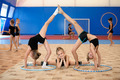 Gymnastic composition made by three girls - PhotoDune Item for Sale