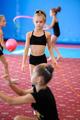 Girls exercising during gymnastics class - PhotoDune Item for Sale