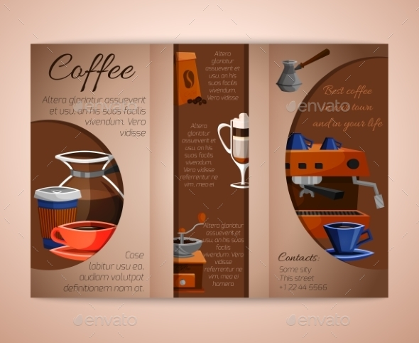 GraphicRiver Coffee Brochure Tri-Fold 9273151