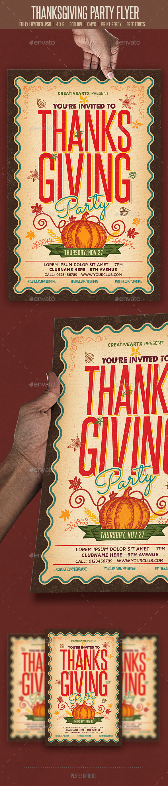 GraphicRiver Thanksgiving Party Flyer 9273175