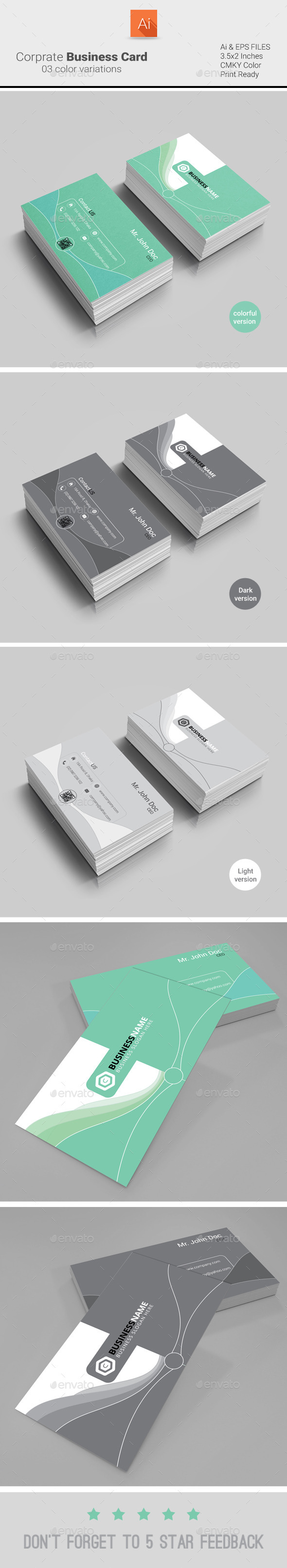 GraphicRiver Corporate Business Card 9273241