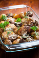 Baked chicken on potatoes and mushrooms - PhotoDune Item for Sale