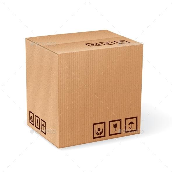 GraphicRiver Carton Box Isolated 9273274