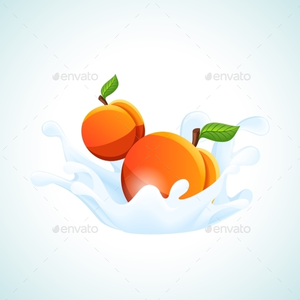GraphicRiver Apricots in Milk Splash 9273286