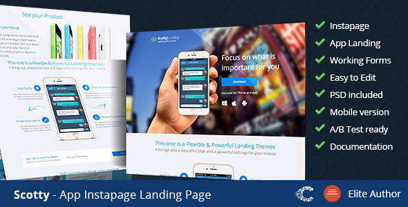 ThemeForest Scotty Instapage App Landing Page 9273289