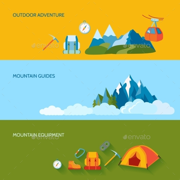 GraphicRiver Camping Banner Set 9273497