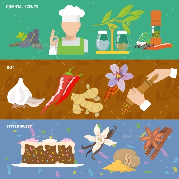 GraphicRiver Spices Icons Banner 9273545