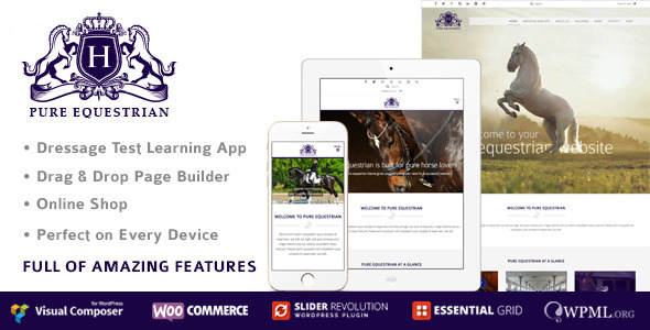 ThemeForest Pure Equestrian Responsive Wordpress Theme 9273628