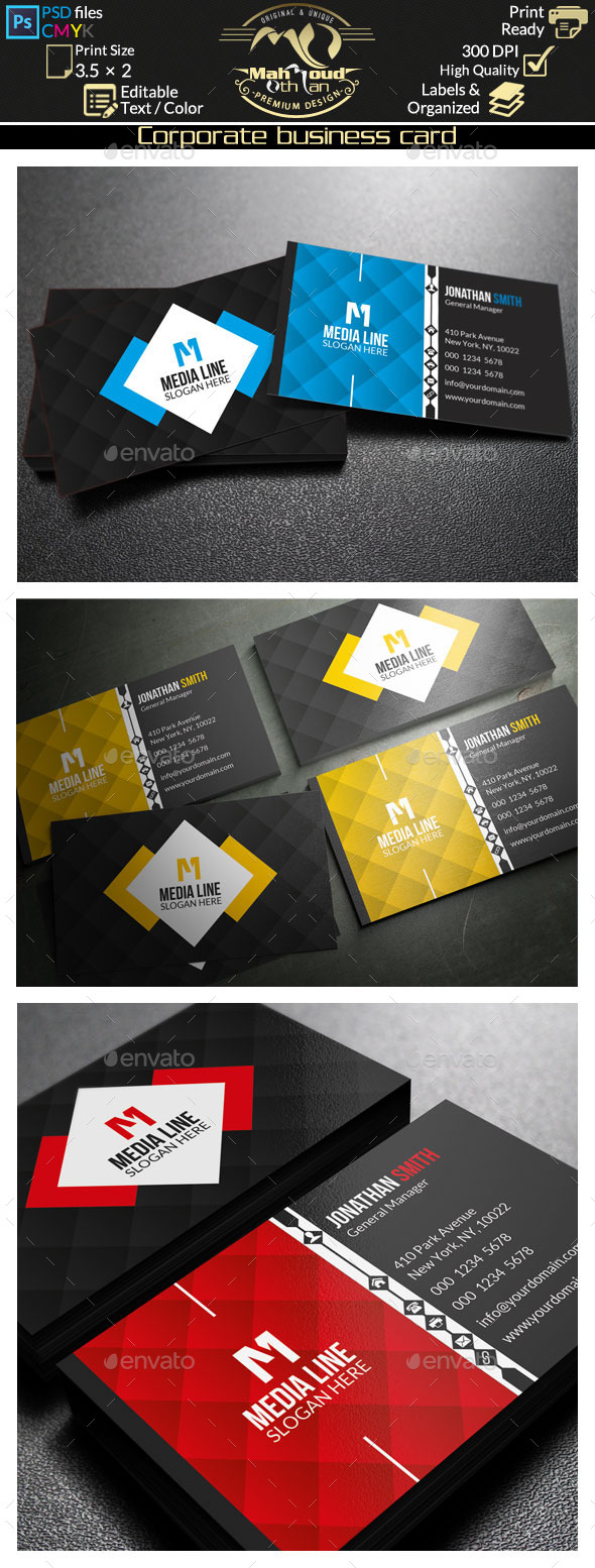 GraphicRiver Corporate Business Card 9273640