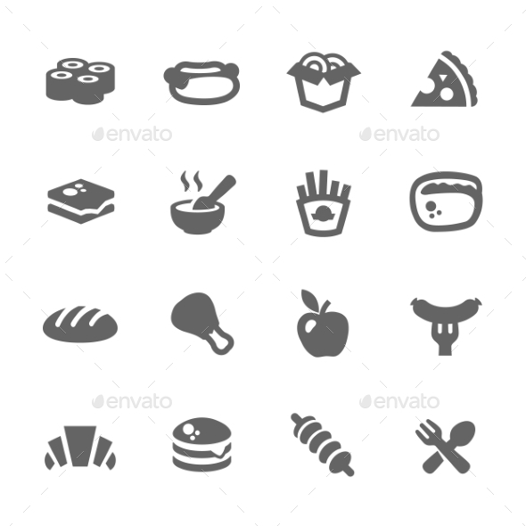 GraphicRiver Fast Food Icons 9273645 Created: 24