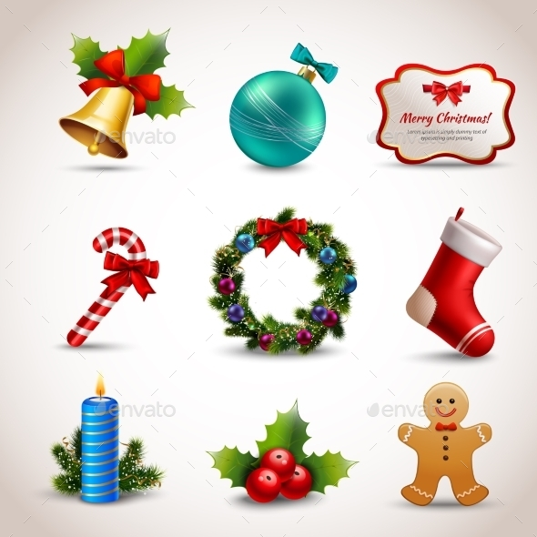 GraphicRiver Christmas Icons Set 9273820