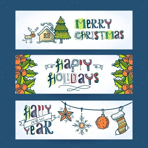 GraphicRiver Christmas Horizontal Banners 9273829
