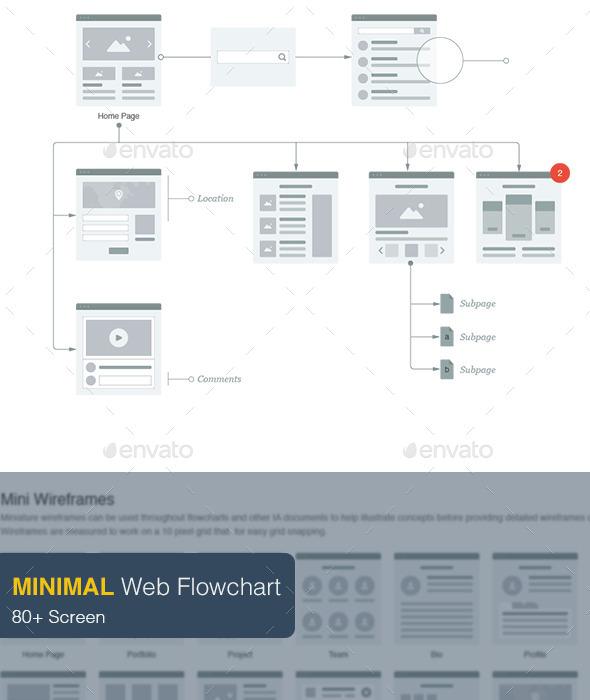 GraphicRiver Minimal Web Flowchart 9258170