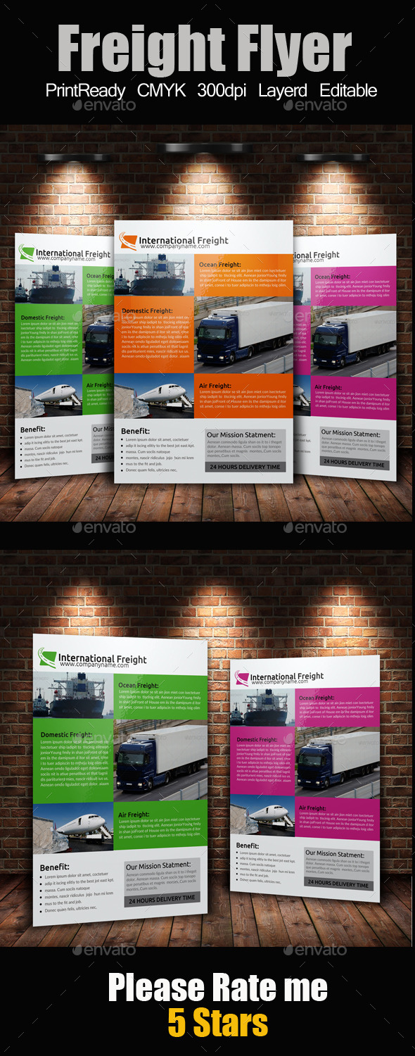 GraphicRiver A4 International Freight Flyer 9273857