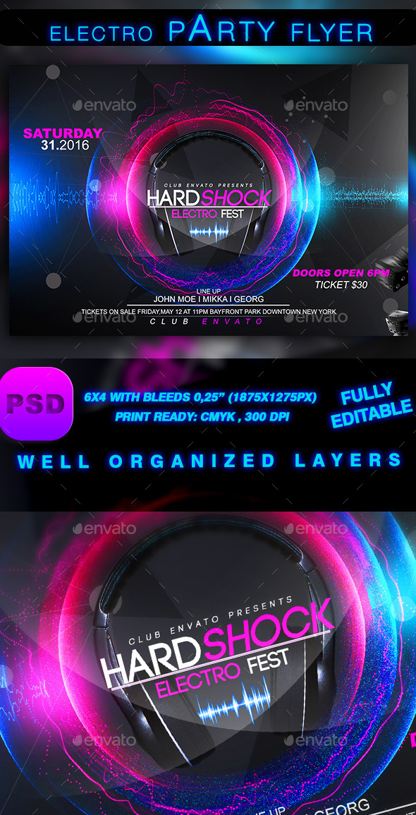 GraphicRiver Electro Sound Party 9273868