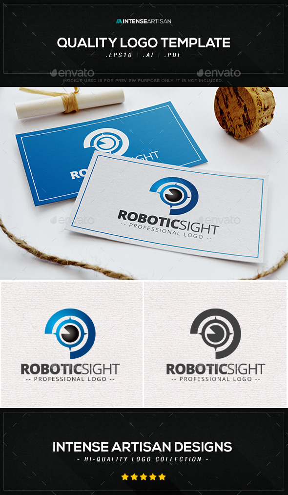 GraphicRiver Robotic Sight Logo Template 9273910