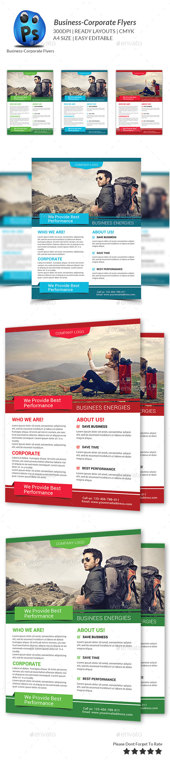 GraphicRiver Corporate Business Flyer Template 9274289