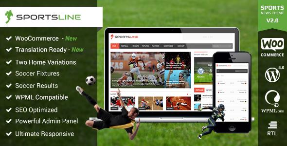 Sportsline - Responsive Sports News Theme - News / Editorial Blog / Magazine