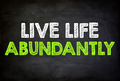 LIVE LIFE ABUNDANTLY - chalkboard concept - PhotoDune Item for Sale