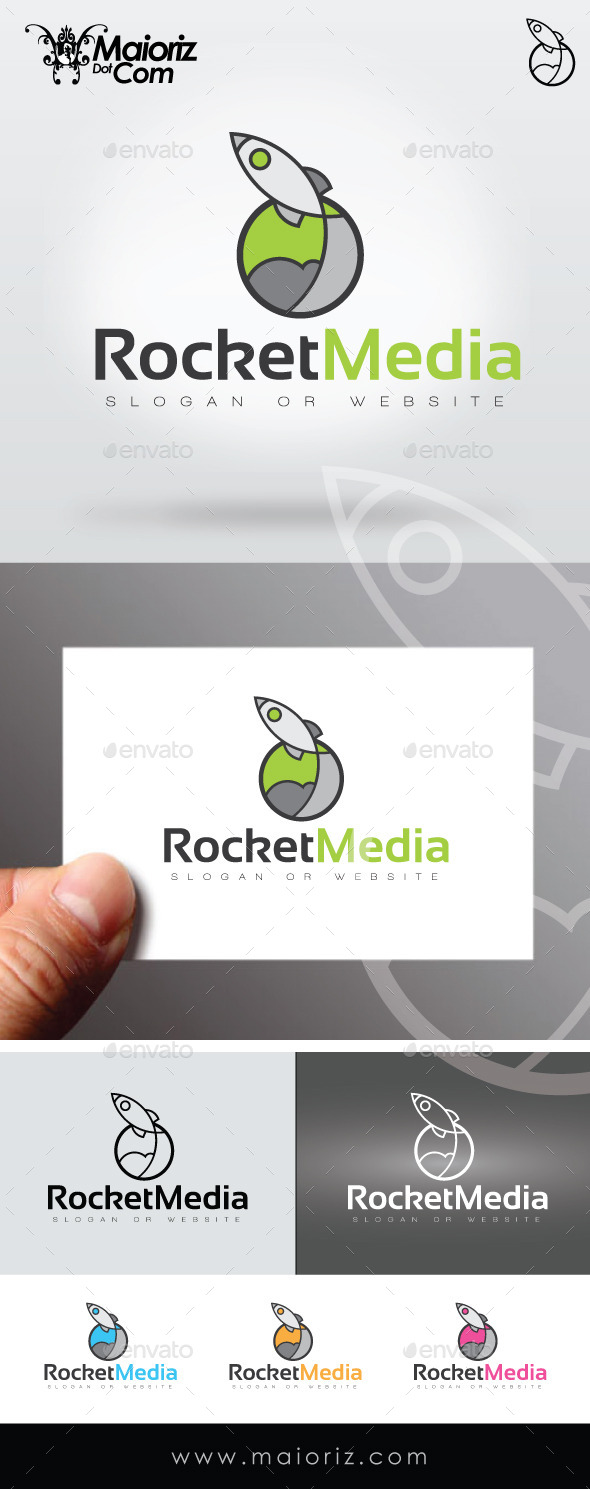 GraphicRiver Rocket Media Logo Template 9274492