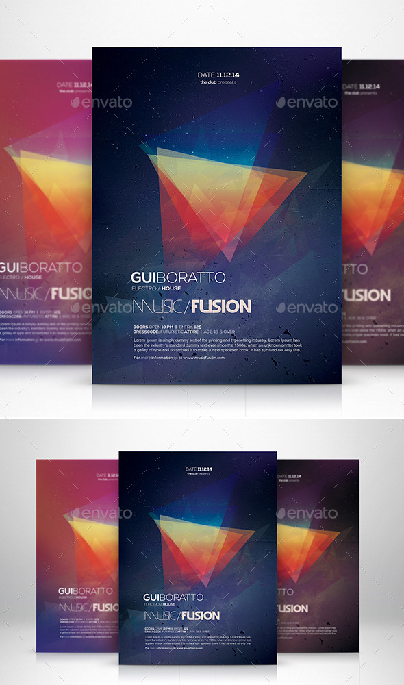 GraphicRiver Music Fusion Flyer Template 9274578