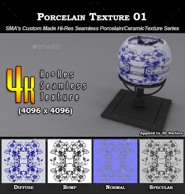 3DOcean Hi-Res Porcelain Texture 01 9274677