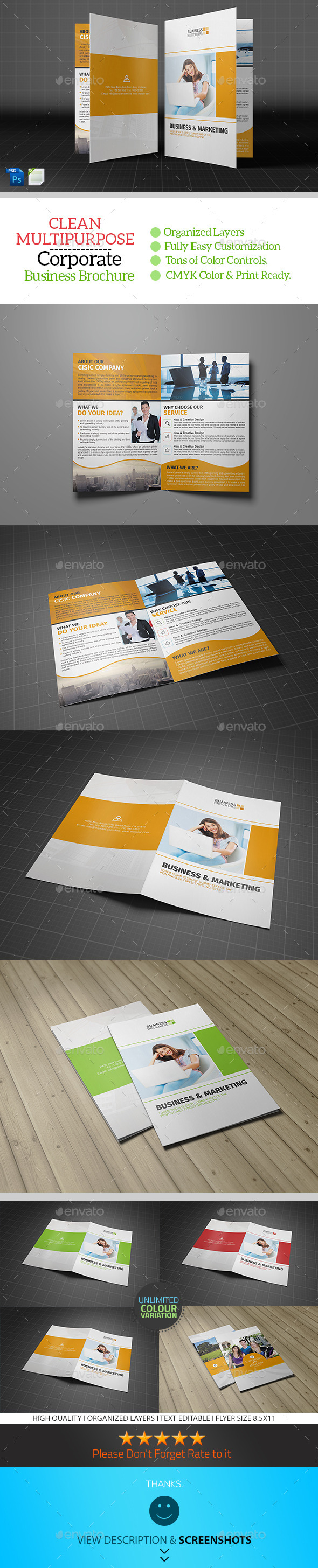 GraphicRiver Corporate Bifold Brochure Template Vol04 9274678