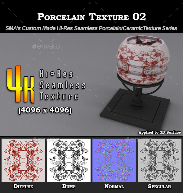 3DOcean Hi-Res Porcelain Texture 02 9274692