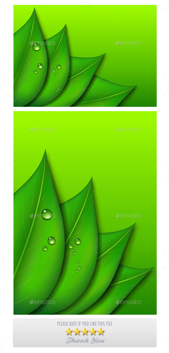 GraphicRiver Green Leaf Backgrounds 9274719