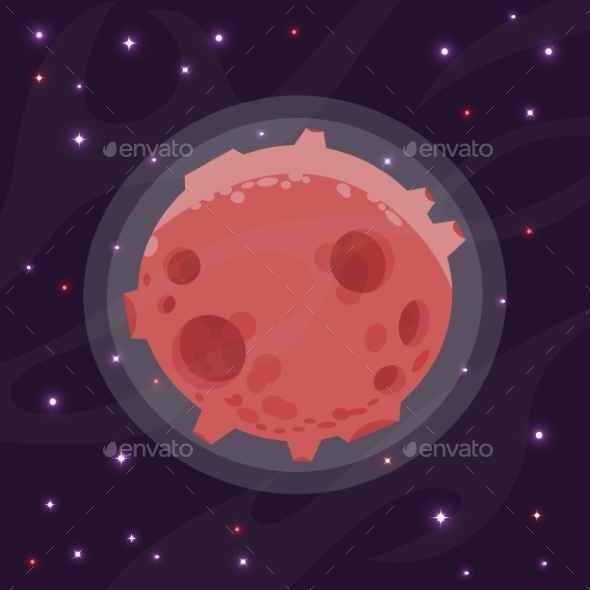 GraphicRiver Illustration of a Cartoon Planet 9274732