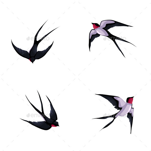GraphicRiver Four Swallows 9274740