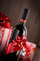 Chistmas gifts and wine bottle - PhotoDune Item for Sale
