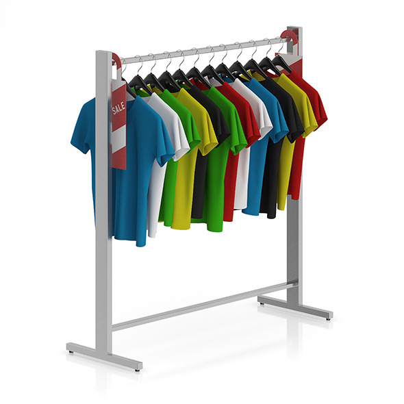 T-shirts on Hangers - 3DOcean Item for Sale