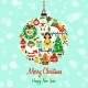Christmas Icons Ball Shape - GraphicRiver Item for Sale