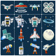 Space Flat Icons - GraphicRiver Item for Sale
