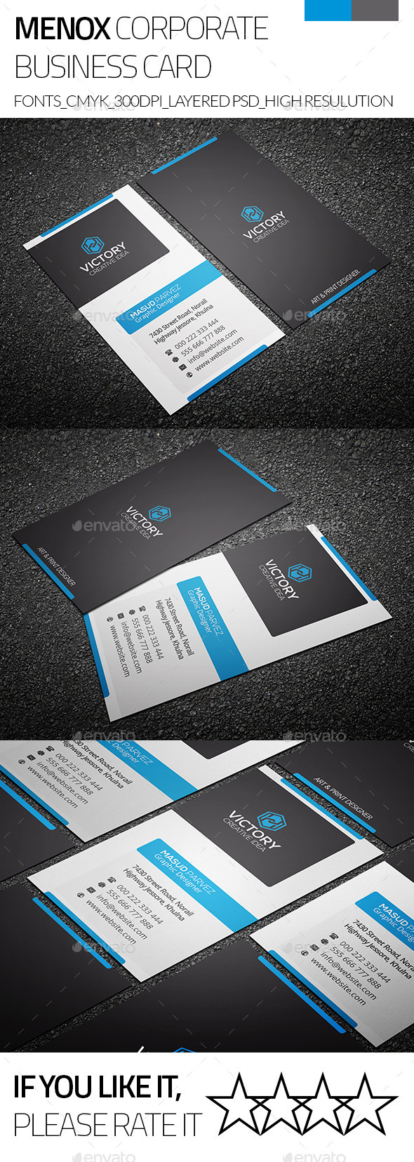 GraphicRiver Minox & Corporate Business Card 9275215