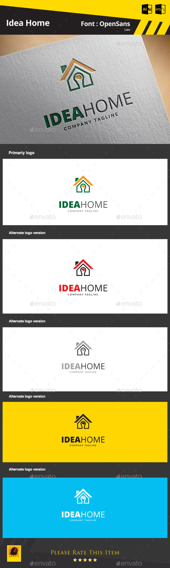 GraphicRiver Idea Home Logo Template 9275233