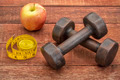 fitness concept with dumbbells - PhotoDune Item for Sale